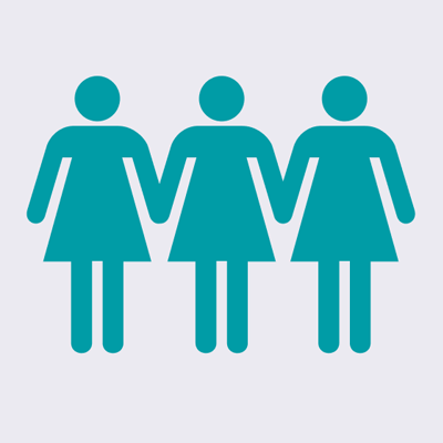 icon of three female shapes