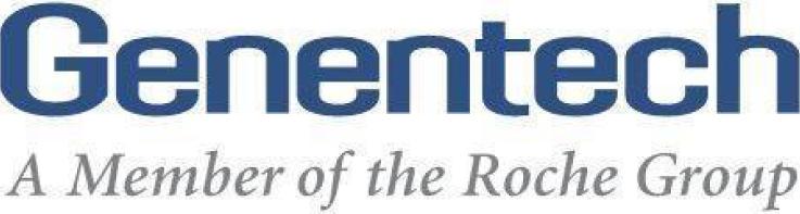Genentech, a member of the Roche Groups logo