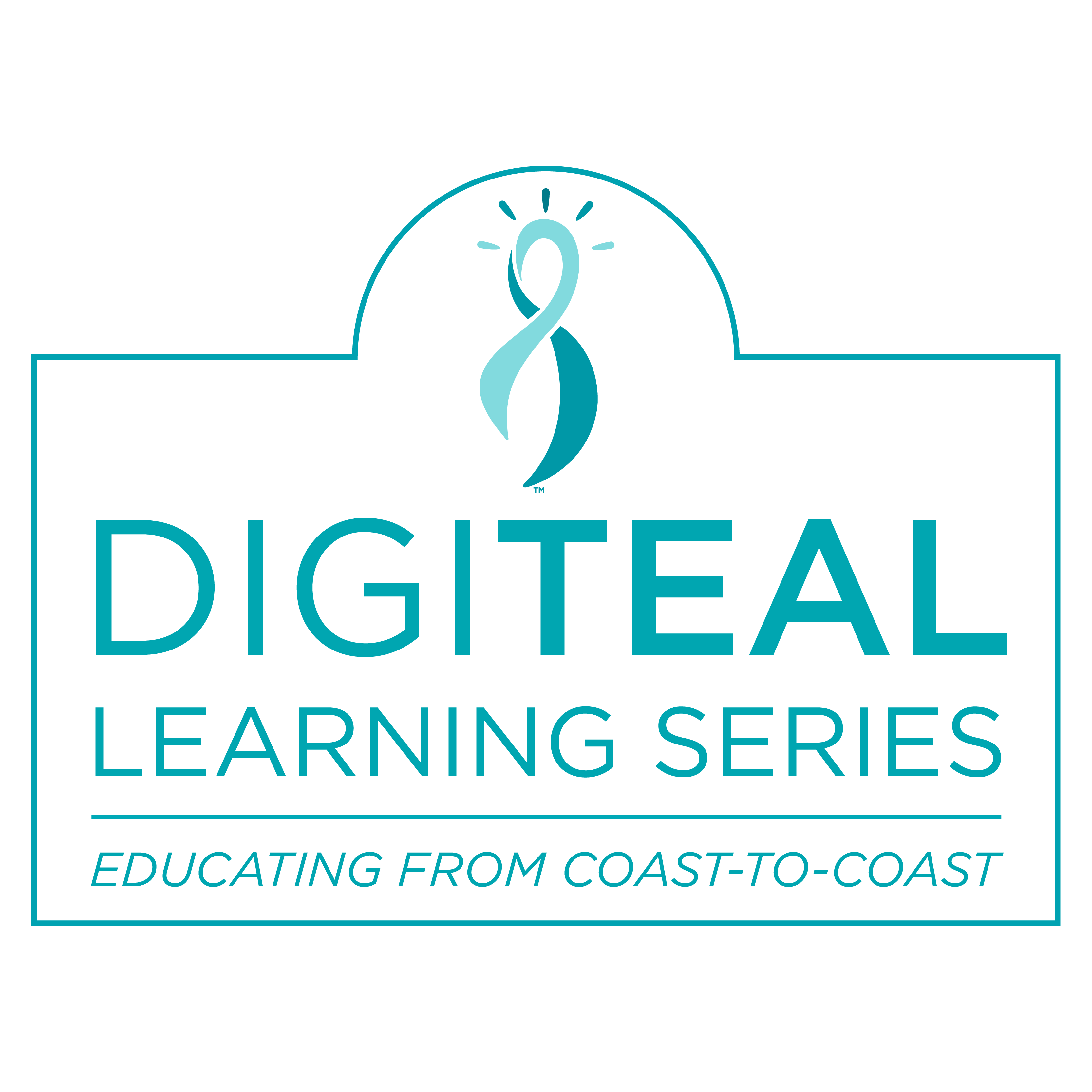 Logo, DigiTEAL Learning Series, educating from coast-to-coast