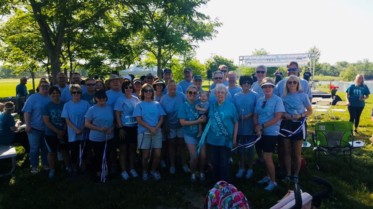 A team of fundraisers and ovarian cancer survivors
