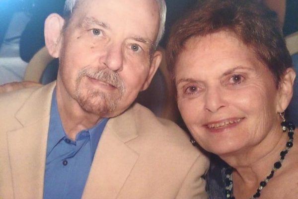 Mittie Moffett with her husband
