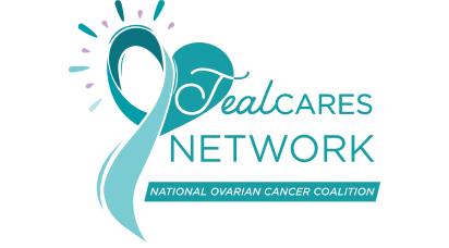 Logo for Teal Cares Network of the National Ovarian Cancer Coalition